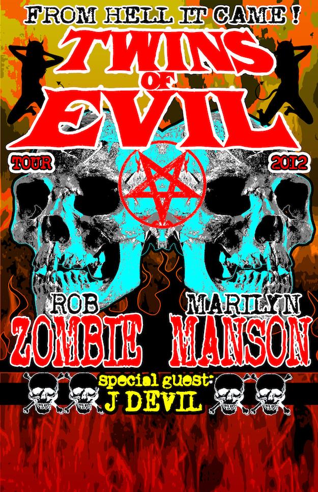 Rob Zombie og Marilyn Manson drager på tour sammen